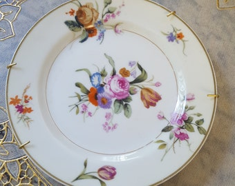 Rare and  Hard TO FIND Antique Plate Roses Dessert Bread Plate Haviland Limoges France Florida Ready to Set in Your Wall  On SaLe Now!