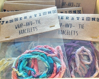 Wrap and Tie Fabric Bracelets