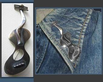 Surrealist GUITAR--Best Beau Sterling Design,Cubist Guitar Brooch,Surrealism,Modernist,Vintage Jewelry,Musician Gift,Rocker,Unisex