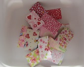 12 Assorted Valentines Mini Teeny Tiny Envelopes Notes, With White Scalloped edge Cards Tooth Fairy, Lunch box Notes
