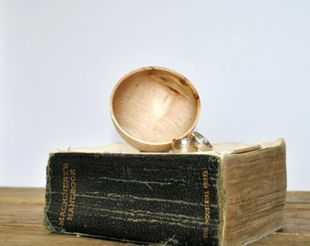 Ring Bowl - READY TO SHIP - Maple - Woodturning - Lathe - Jewelry dish