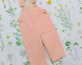 SUPER SALE - Overall in Strawberry and Peaches (double sided) - featured in Pregnancy & Newborn Magazine - Last One