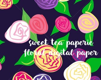 Floral Digital Paper (Instant Download)