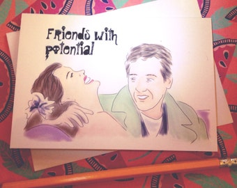 Say Anything greeting card - Friends with Potential