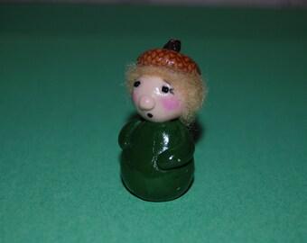 Fairy Garden Decoration Polymer Clay Acorn Elf or Gnome