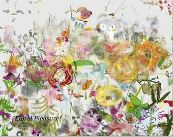 Floral Pleasure fine art print 11 x 14 inches free shipping
