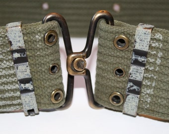 Vintage US Military Webbed Belt. Fully Adjustable 20 to 40 Inches