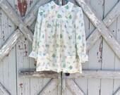Floral vintage 1970s maternity top M L XL