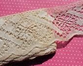 Antique Lace Vintage Lace Trim Cotton Bobbin Lace Cluny Lace Wide