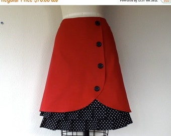 SALE Rosalee ruffle front skirt Sz 14