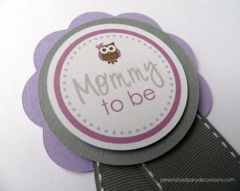 Owl Baby Shower Decorations, Baby Shower Decorations, Baby Shower Décor, Owl Baby Shower MOM TO BE Pin, You Choose The Colors