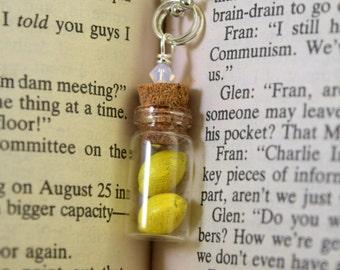 Miniature Lemons Glass Bottle Necklace