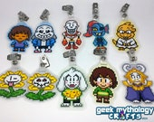Undertale Laminated Badge Clip Buddies