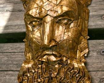 Hieronymus - golden enemeled Origami sculpture