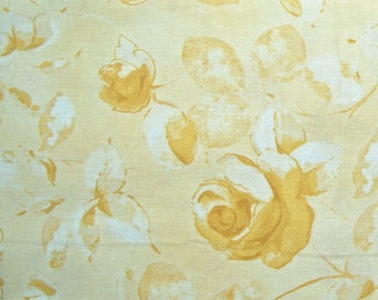 COUPON Code Sale - Gold Tonal Rose, Maywood Classics, Designer Cotton Quilt Fabric, Quilting Fabric, SELECT A SIZE