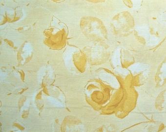COUPON CODE SALE - Gold Tonal Rose, Maywood Classics, 100% Cotton Quilt Fabric, Quilting Fabric