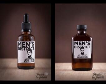 Beard oil and aftershave // Men's district combo // Combo huile à barbe et après-rasage Men's district