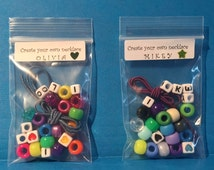 Kids Party Favor - Child Necklace (or bracelet), Make Your Own, Easy to Make, Jewelry Kit, Alphabet, Play Date, DIY, Personalized, Bead Kit