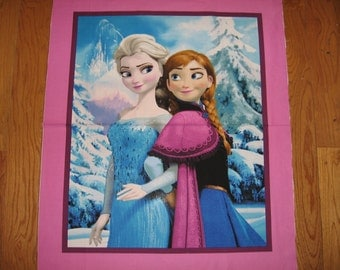 Disney Frozen ice castle Anna Elsa cotton fabric quilt top or wall panel to Sew