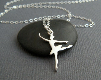 sterling silver ballet dancer necklace pirouette pirouetting ballerina girl tutu pendant on point dancer dance charm women sport jewelry