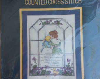 My Mother Counted Cross Stitch Sunset 2977 counted cross stitch kit Design by Lorna Mcroden unmatted 9 x 12 matted 11 x 14
