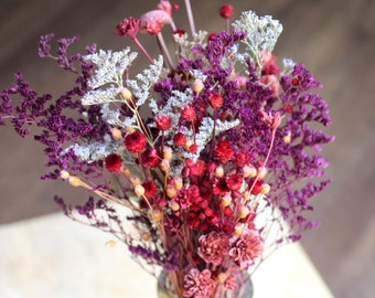 Pink Margarita flowers-2 colors of caspia-Hill flowers-Fuchsia-Burgundy-2 Small bunches-YOU GET these exact 2 as shown
