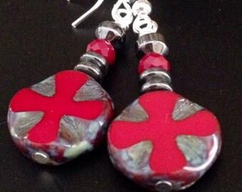 Earrings, dangle earrings, handmade earrings