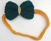 Football Team Headband with bow (or choose your own team) featured in Green Bay Packers