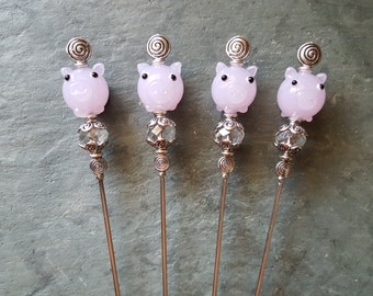Pig Mania II, Sturdy Bloody Mary Spikes, Pint Glass Garnish Picks, Appetizer Skewers, Food Grade Stainless Steel