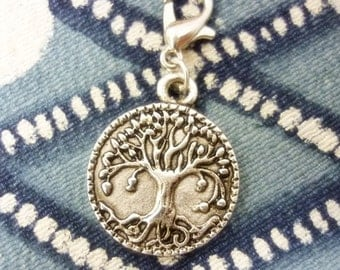 Tree of Life Celtic style Clip Charm,Silver Tree of Life add a Charm