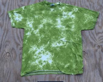 Misty Meadows Scrunch Tie Dye T-shirt (Gildan Heavy Cotton Size L)(One of a Kind)