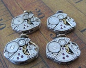 Steampunk watch parts - Vintage Antique Watch movements Steampunk - Scrapbooking W47