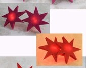 Jem and the Holograms BLINKING LED Star Earrings (Pink / Red) - Cosplay Prop - 80's earrings - Costume - The Misfits - Jewelry