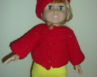 American Girl Doll Sweater and Hat
