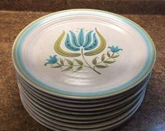 Franciscan Tulip Time plates