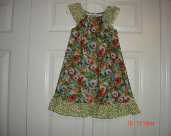 Flutter Sleeve Peasant Style Dress   Size 3T-5/6yrs