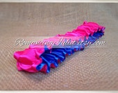 The Original Fully Reversible Bridal Garter..You Choose The Colors..shown in royal blue/hot pink