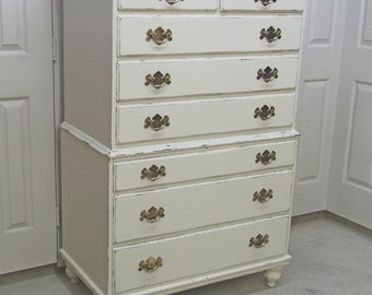 Chest of Drawers, White Classic Cottage Style - Chic DR303 Shabby Farmhouse Chic, Chest, Nursery Furniture