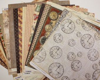 Scrapbooking Paper - Graphic 45 - Fab Scraps - Double Sided -  12x12 paper - 60 sheets - Cardstock - Scrapbooking Supplies