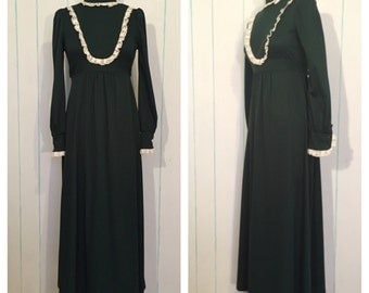 Green Lacey Maxi Dress Size 8