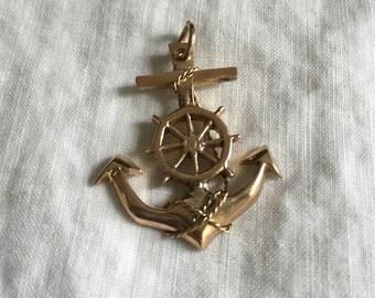 Anchor Pendant 14k Gold