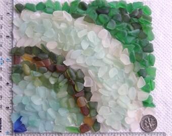 320 Sea Glass Shards Imperfections Art Mosaic Craft Supplies (1859)