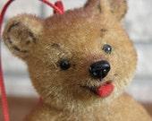 West German Flocked Bear Ornament