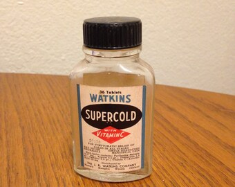 Watkins Glass Medicine Bottle