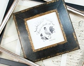 5x5inch Black Photo Frame with gold edging