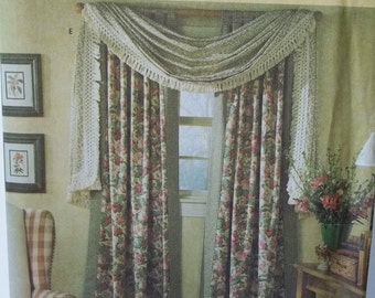 Window Dressings Simplicity Home 8052 Window Treatments, Drape Panels, Balloon and Cafe Curtains, Valance Tie Backs Window Scarf Home Decor