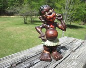 Vintage Occupied Japan Black African Native Figurine--Rare--Black Americana--African Tribal Native Collectable--Made in Japan