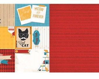 Happy Tails Cat Paper Selection - Bo Bunny