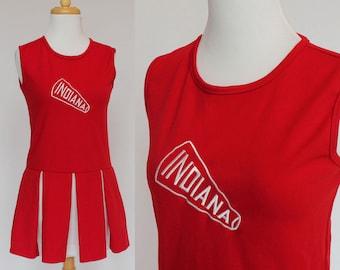 70's  Cheerleader Dress / Indiana / Pleated Skirt / XSmall to Small