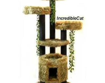 UNIQUE Cat TREES 6' High Breckenridge, Best Cat Beds, Designer Cat Trees, Elegant Cat Condos, High End Cat Tree, Unique Breckenridge 3BBgp